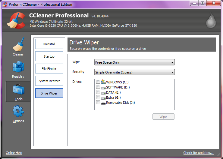Free download ccleaner for PC