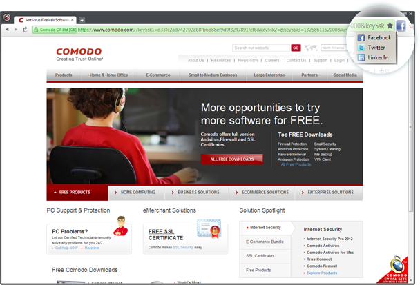 Free Download comodo dragon for Windows