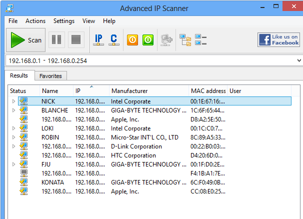 Download Advanced IP Scanner