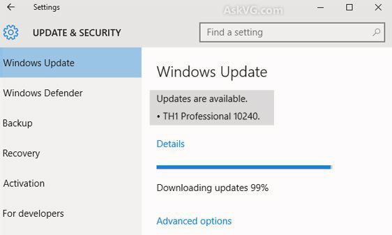 Windows 10 update checking