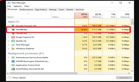 How To Limit Handbrake CPU Usage in Windows