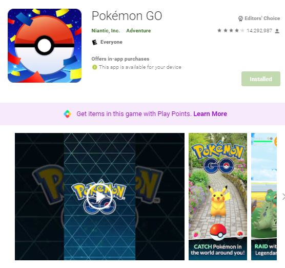 Pokemon go apk 0.35.0