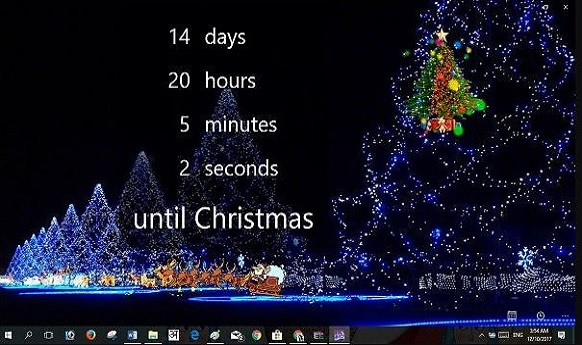 How to Start a Countdown on Desktop To Wait Christmas Holyday