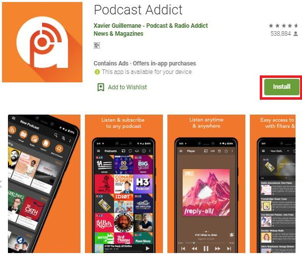 Download Podcast Addict For PC and Mac