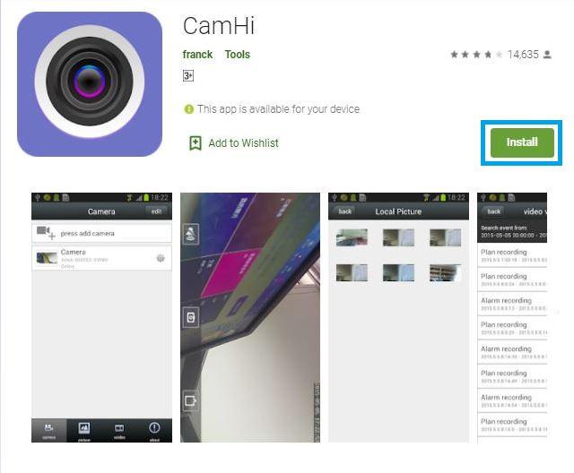camhi for pc windows 10